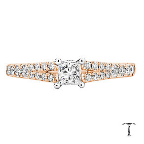 Tolkowsky 18ct Rose Gold 0.50ct I-I1 Diamond Ring - Product number 3978494
