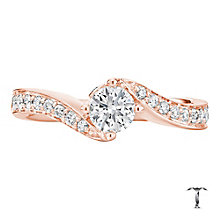 Tolkowsky 18ct Rose Gold 0.66ct I-I1 Diamond Twist Ring - Product number 3978656
