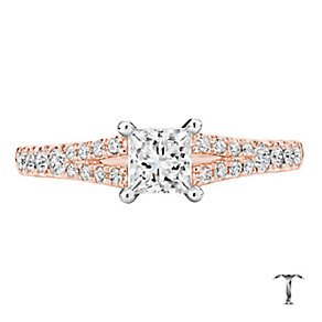 Tolkowsky 18ct Rose Gold 0.75ct I-I1 Diamond Ring - Product number 3979091