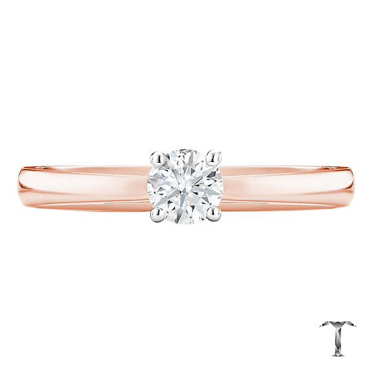Tolkowsky 18ct rose gold 0.33ct I-I1 diamond ring - Product number 3979857