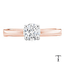 Tolkowsky 18ct rose gold 0.66ct I-I1 diamond ring - Product number 3980480