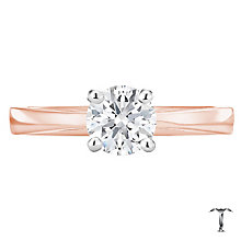 Tolkowsky 18ct rose gold 0.75ct I-I1 diamond ring - Product number 3980634