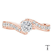 Tolkowsky 18ct Rose Gold 1.00ct I-I1 Diamond Twist Ring - Product number 3980804