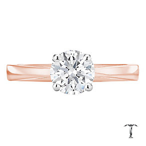Tolkowsky 18ct rose gold 1.00ct I-I1 diamond ring - Product number 3980960