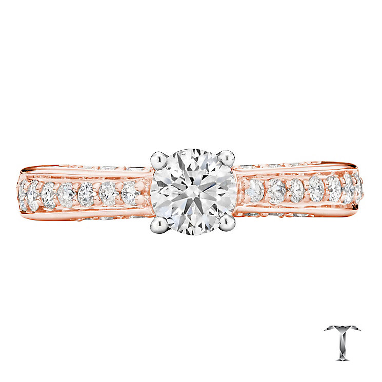 Tolkowsky 18ct Rose Gold 1.00ct I-I1 Diamond Ring - Product number 3981142
