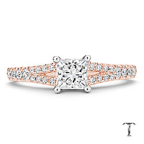 Tolkowsky 18ct Rose Gold 1.00ct I-I1 Diamond Ring - Product number 3981819