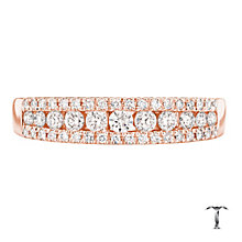 Tolkowsky 18ct Gold 0.36ct I-I1 Diamond Ring - Product number 3982122