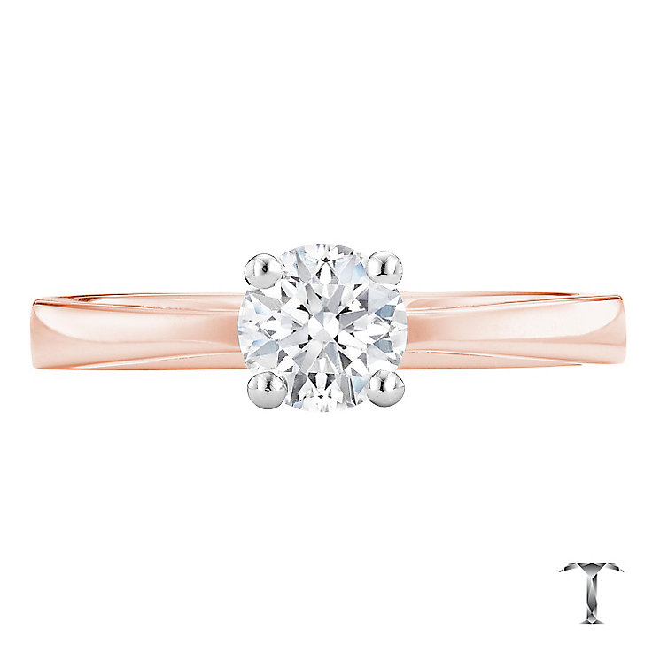 Tolkowsky 18ct rose gold 0.50ct HI-S12 diamond ring - Product number 3982947