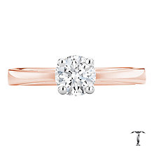 Tolkowsky 18ct rose gold 0.66ct HI-SI2 diamond ring - Product number 3983234