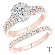 Tolkowsky 18ct Gold 1ct Round Cut Diamond Bridal Set - Product number 3983374