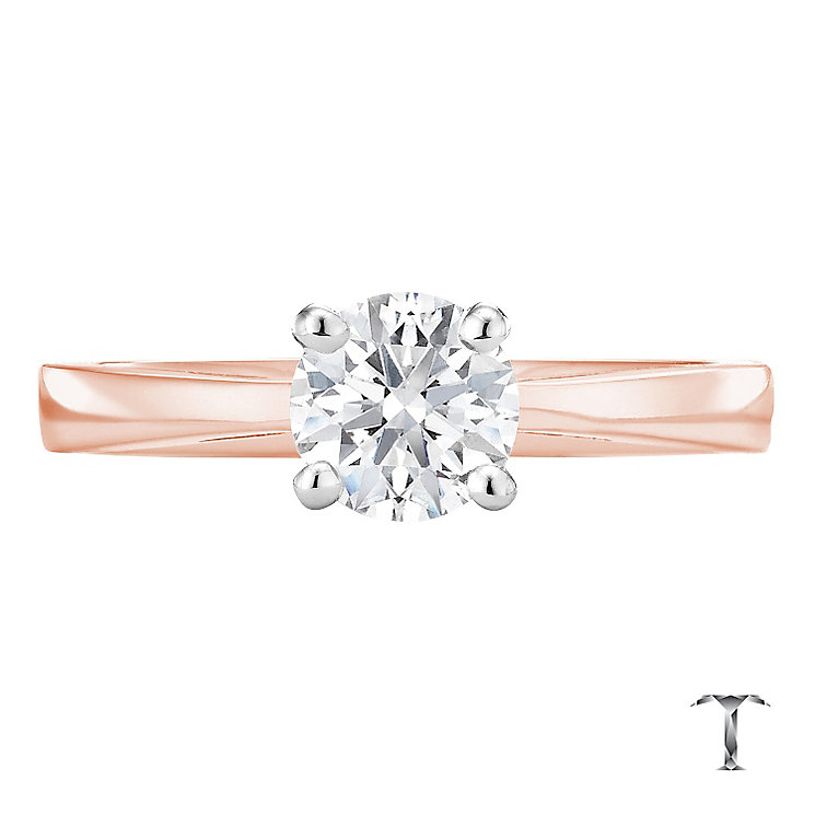 Tolkowsky 18ct rose gold 0.75ct HI-SI2 diamond ring - Product number 3983501