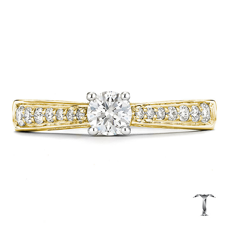 Tolkowsky 18ct Gold 0.50ct I-I1 Diamond Ring - Product number 3985121