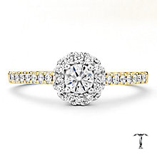 Tolkowsky 18ct Gold 0.50ct I-I1 Diamond Halo Ring - Product number 3985784
