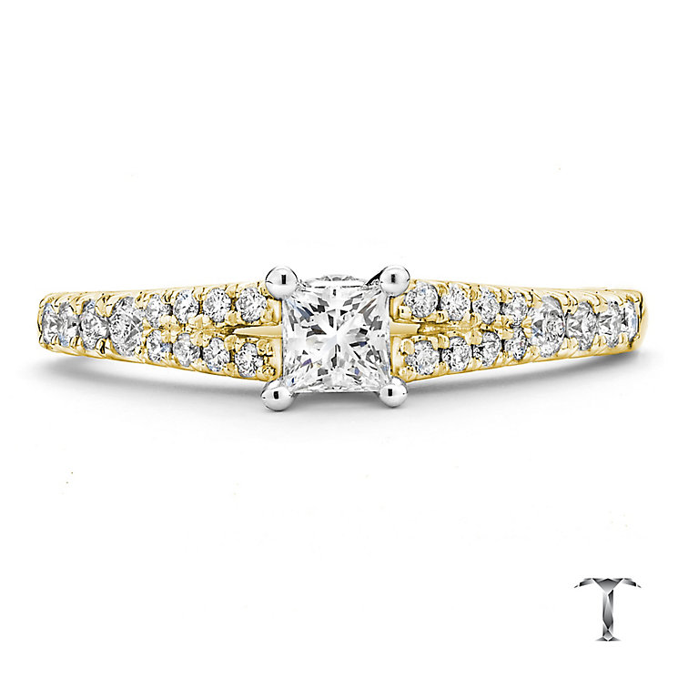 Tolkowsky 18ct Gold 0.50ct I-I1 Diamond Ring - Product number 3985938