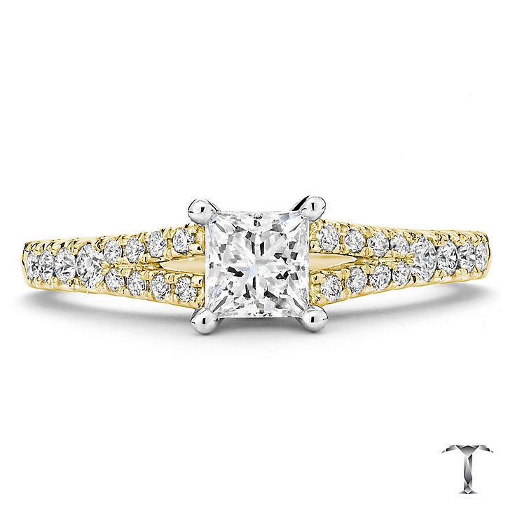 Tolkowsky 18ct Gold 0.75ct I-I1 Diamond Ring - Product number 3986373