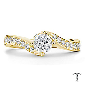 Tolkowsky 18ct Gold 1.00ct I-I1 Diamond Twist Ring - Product number 3986918
