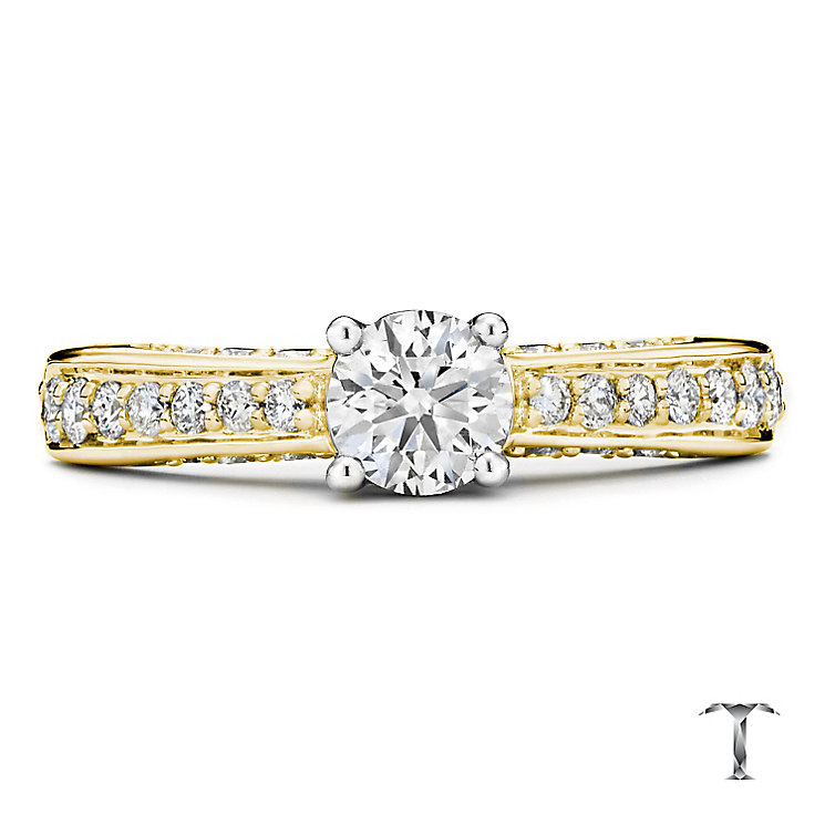 Tolkowsky 18ct Gold 1.00ct I-I1 Diamond Ring - Product number 3987086