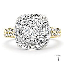 Tolkowsky 18ct Gold 1.00ct I-I1 Diamond Halo Ring - Product number 3987264