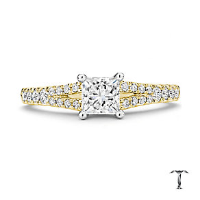 Tolkowsky 18ct Gold 1.00ct I-I1 Diamond Ring - Product number 3987396