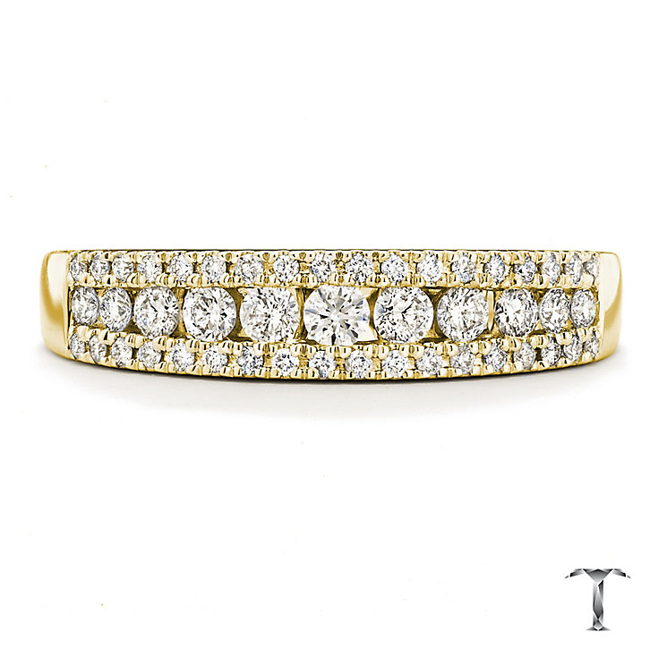 Tolkowsky 18ct Gold 0.36ct I-I1 Diamond Ring - Product number 3987523