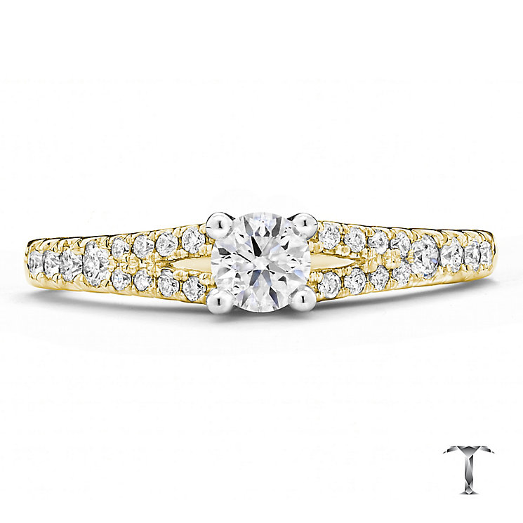 Tolkowsky 18ct Gold 0.50ct round cut diamond ring - Product number 3987701