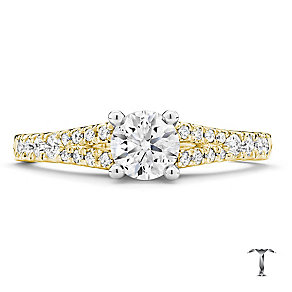 Tolkowsky 18ct gold 0.75ct round cut diamond ring - Product number 3987841