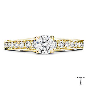 Tolkowsky 18ct gold 0.88ct round cut diamond ring - Product number 3988007