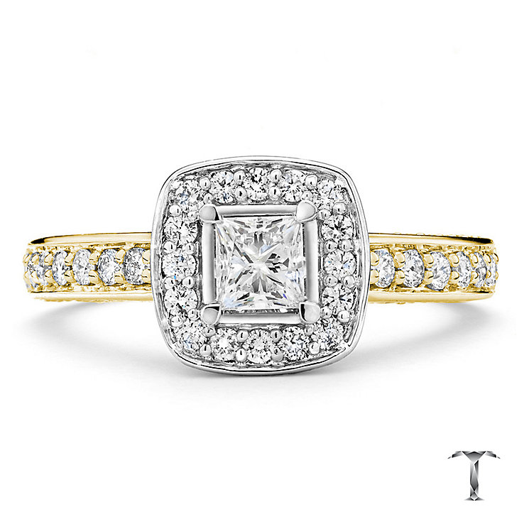Tolkowsky 18ct gold 1ct princess cut diamond ring - Product number 3988139