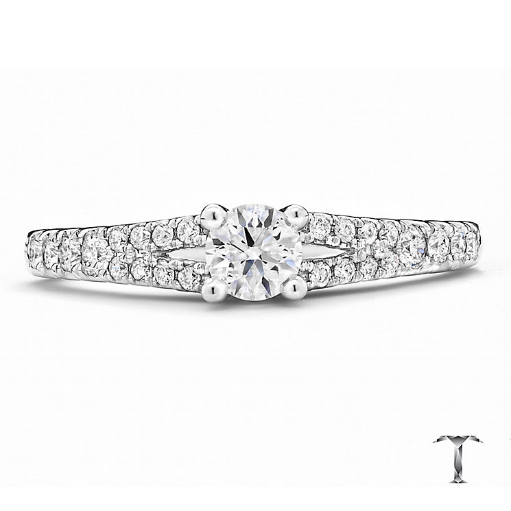 Tolkowsky Platinum 0.50ct round cut diamond ring - Product number 3993035