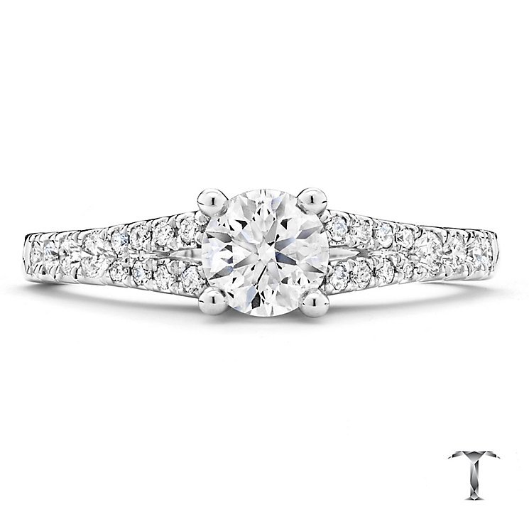 Tolkowsky Platinum 0.75ct round cut diamond ring - Product number 3993191