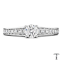 Tolkowsky Platinum 0.88ct round cut diamond ring - Product number 3993353