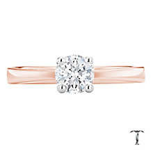 Tolkowsky 18ct rose gold 0.50ct HI-VS2 diamond ring - Product number 3995143