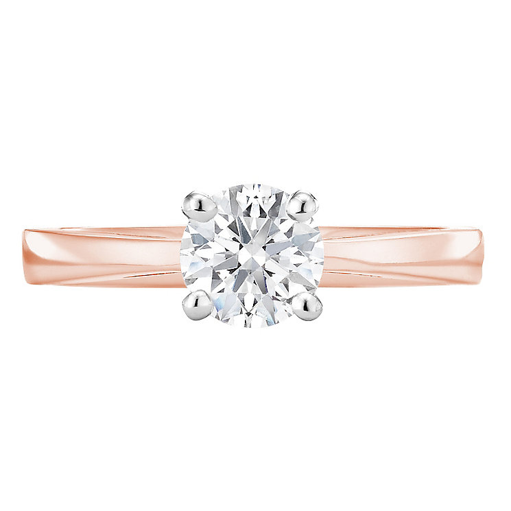 Tolkowsky 18ct rose gold 0.75ct HI-VS2 diamond ring - Product number 3996468