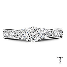Tolkowsky Platinum 1.25ct three stone diamond ring - Product number 3996964