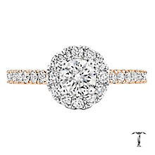 Tolkowsky 18ct Rose Gold 1.00ct I-I1 Diamond Halo Ring - Product number 3997685