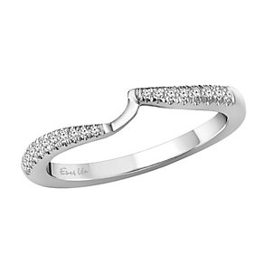 Ever Us 14ct white gold 0.12ct diamond shaped band - Product number 3998916