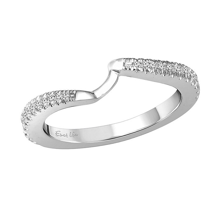 Ever Us 14ct white gold 0.25ct diamond shaped band - Product number 3999696