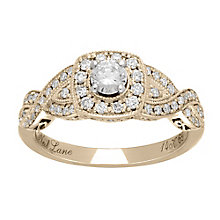 Neil Lane 14ct  gold 0.69ct diamond halo twist ring - Product number 4000765