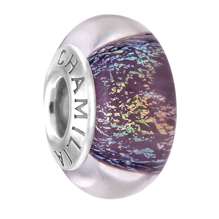 Chamilia Shimmer Lavender Murano glass bead - Product number 4002172