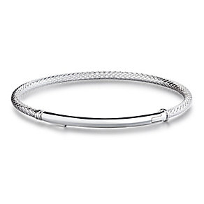 Chamilia Bright Finish Sterling Silver Bar Bracelet Large - Product number 4002490