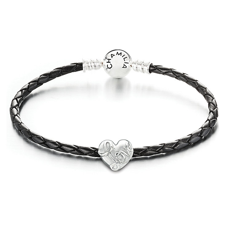 Chamilia Black Leather Love Bead Set - Product number 4004272