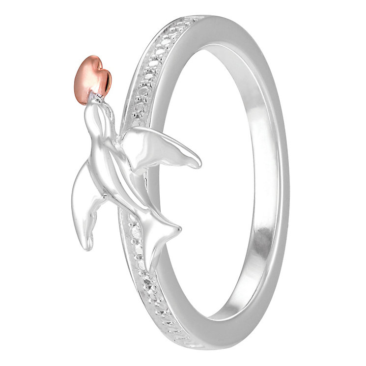 Chamilia Rose Gold Electroplated Special Delivery Ring Small - Product number 4004299