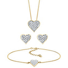 Evoke Gold Plated and Crystal Heart Set - Product number 4014928