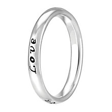Chamilia Sterling Silver Live Laugh Love Ring Medium - Product number 4020073