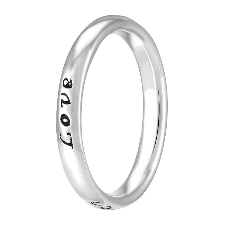 Chamilia Sterling Silver Live Laugh Love Ring Large - Product number 4020235