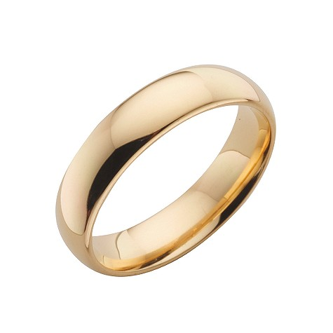 18ct gold super heavy 5mm court ring