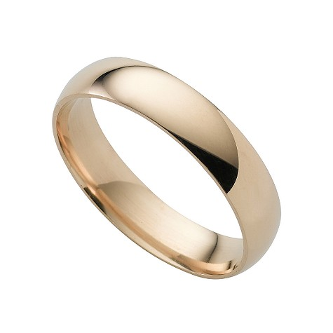 18ct gold extra heavy 5mm court ring