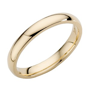 18ct Yellow Gold 3mm Super heavy Weight Wedding Ring