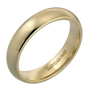 18ct Gold Super Heavy Weight 4mm Wedding Ring