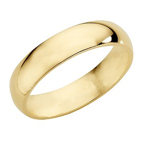 18ct Yellow Gold Super Heavy Weight 5mm Wedding Ring
